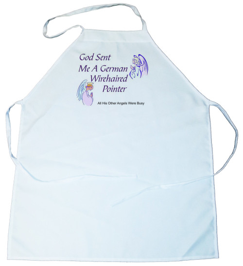 God Sent Me a German Wirehaired Pointer Apron (100-0005-238)