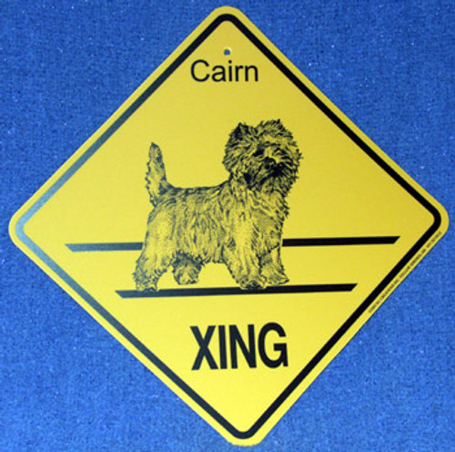 Yellow Xing Crossing Sign - Cairn Terrier (2274)