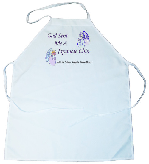 God Sent Me a Japanese Chin Apron (100-0005-274)