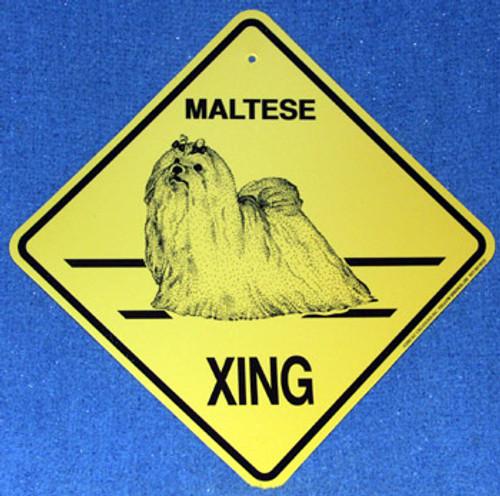 Yellow Xing Crossing Sign - Maltese (2285)