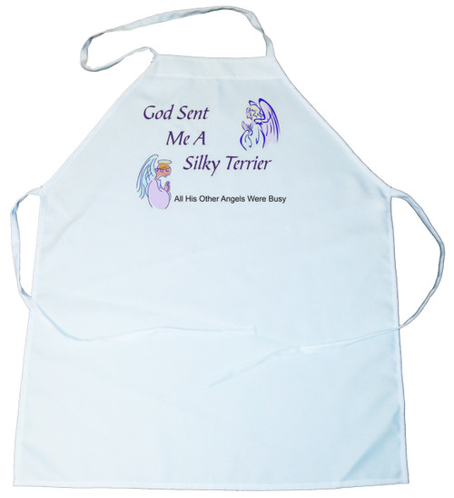 God Sent Me a Silky Terrier Apron (100-0005-376)