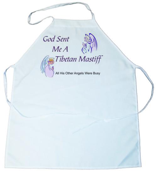 God Sent Me a Tibetan Mastiff Apron (100-0005-392)