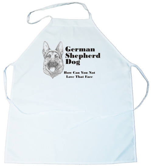 How Can You Not Love That Face Apron: German Shepherd (234A) (100-0071-234A)