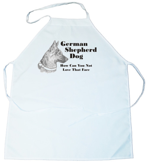 How Can You Not Love That Face Apron: German Shepherd (234B) (100-0071-234B)