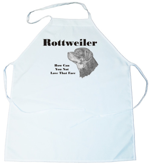 How Can You Not Love That Face Apron: Rottweiler (100-0071-352)