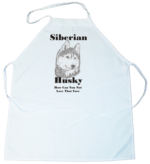 How Can You Not Love That Face Apron: Siberian Husky (100-0071-374)