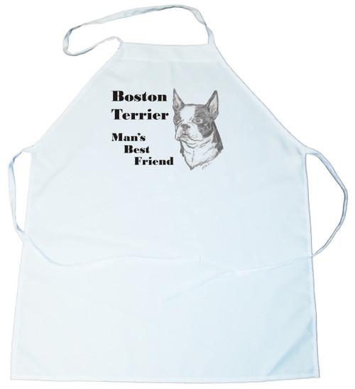 Man's Best Friend Apron: Boston Terrier (100-0072-160)