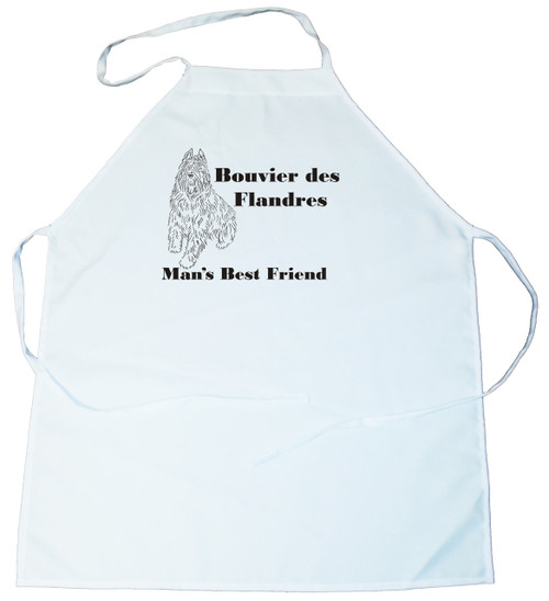 Man's Best Friend Apron: Bouvier des Flandres (162A) (100-0072-162A)