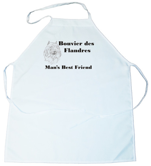 Man's Best Friend Apron: Bouvier des Flandres (162B) (100-0072-162B)