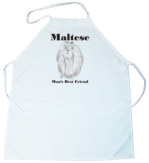 Man's Best Friend Apron: Maltese (100-0072-292)