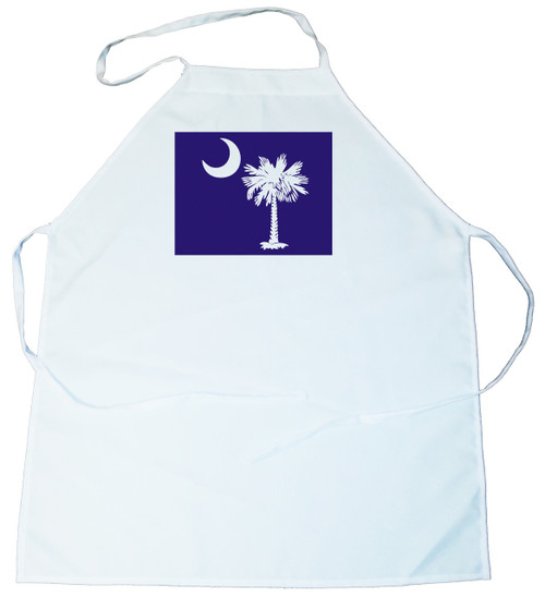 Apron -  Palmetto Tree and moon (On Blue Background) (100-0076-004)