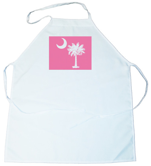 Apron -  Palmetto Tree and moon (On Pink Background) (100-0076-003)