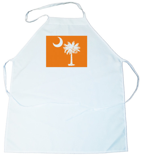 Apron -  Palmetto Tree and moon (On Orange Background) (100-0076-002)