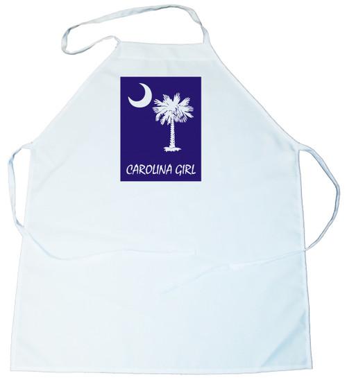 Apron -  Carolina Girl Palmetto & Moon (On Blue Background) (100-0061-004)