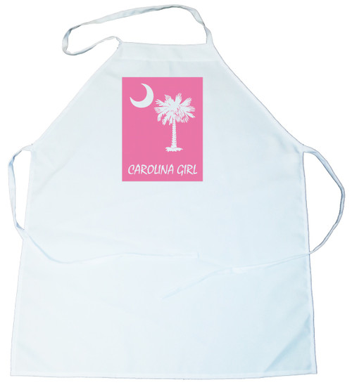 Apron -  Carolina Girl Palmetto & Moon (On Pink Background) (100-0061-003)
