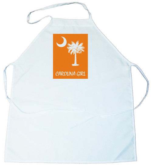 Apron -  Carolina Girl Palmetto & Moon (On Orange Background) (100-0061-002)