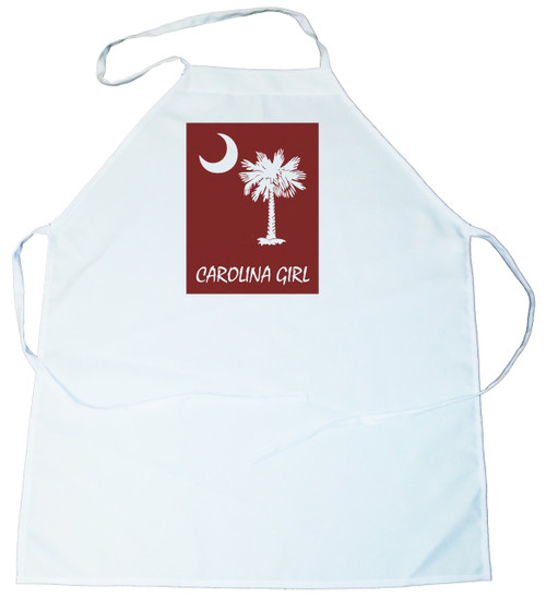 Apron -  Carolina Girl Palmetto & Moon (On Garnet Background) (100-0061-001)