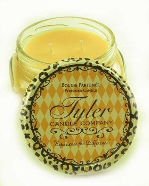 French Vanilla Oak Scented Tyler Candle Company Prestige Collection 11oz Two Wick Candle