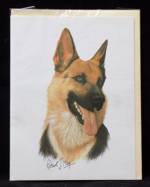Blank Card with Envelope by Robert May - German Shepherd (RGC08A)