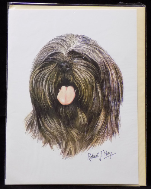 Blank Card with Envelope by Robert May - Lhasa Apso (RGC10B)
