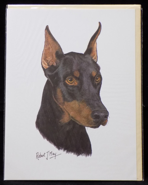 Blank Card with Envelope by Robert May - Doberman Pinscher (RGC25A)