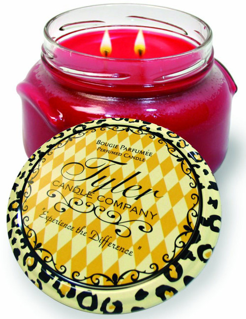 French Vanilla Oak Scented Tyler Candle Company Prestige Collection 22oz Two Wick Candle