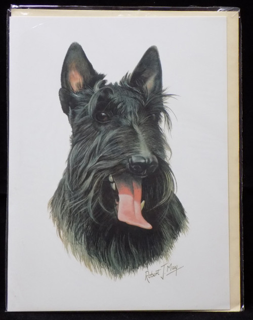 Blank Card with Envelope by Robert May - Scottish Terrier (Scottie) (RGC42)