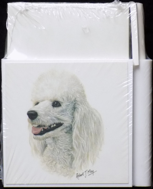 Hold-A-Note Designs by Robert May - White Poodle (CON-RHN01A)