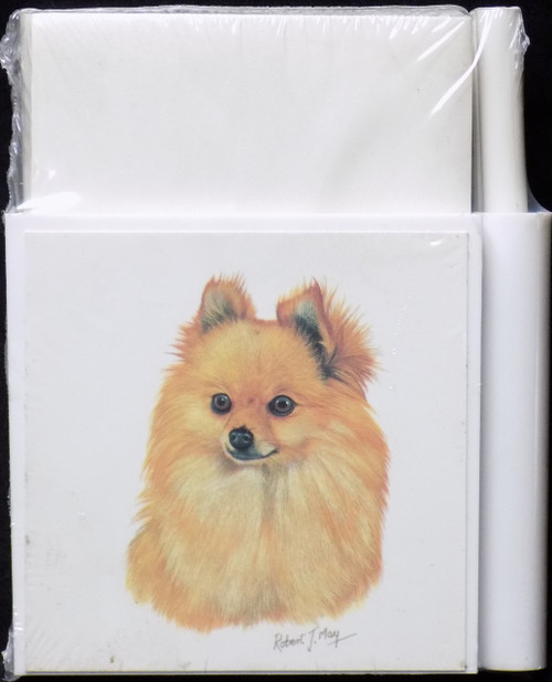 Hold-A-Note Designs by Robert May - Pomeranian, Red (CON-RHN03A)