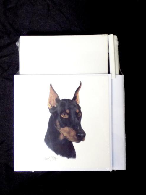 Hold-A-Note Designs by Robert May - Black & Tan Doberman (CON-RHN25A)