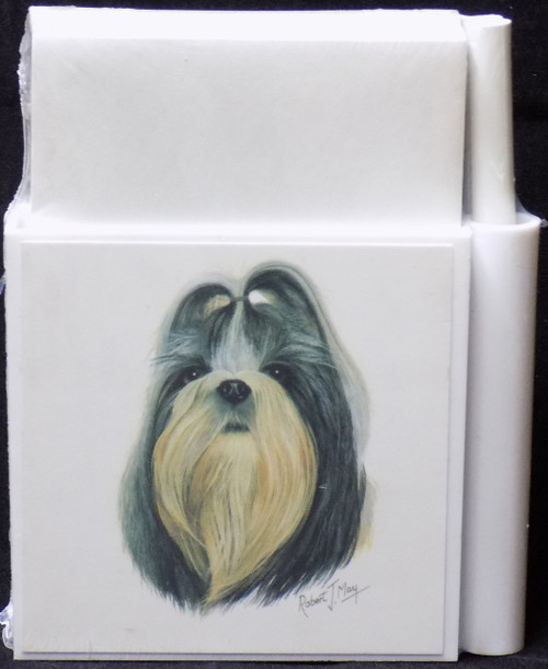 Hold-A-Note Designs by Robert May - Black & White Shih Tzu (RHN26D)