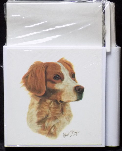 Hold-A-Note Designs by Robert May - Brittany Spaniel (RHN27B)