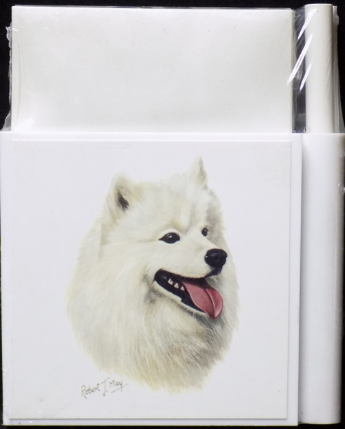 Hold-A-Note Designs by Robert May - Samoyed (RHN39)