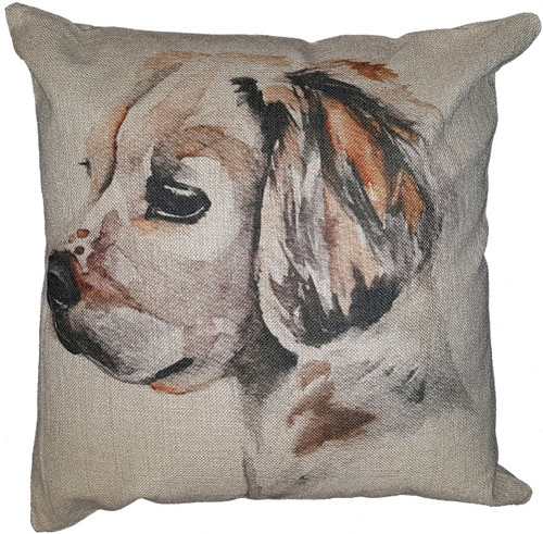 Cotton & Linen Dog Pillow - Golden Retriever (4865) (10361)