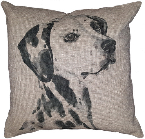 Cotton & Linen Dog Pillow - Dalmatian (10362)