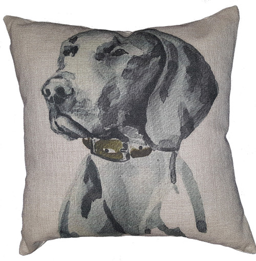Cotton & Linen Dog Pillow - Weimeraner (10363)
