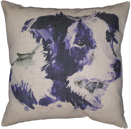 Cotton & Linen Dog Pillow - Border Collie (10366)