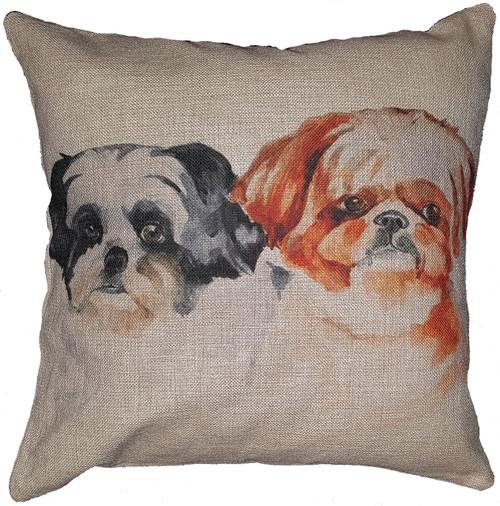 Cotton & Linen Dog Pillow - Shih Tzu (10367)