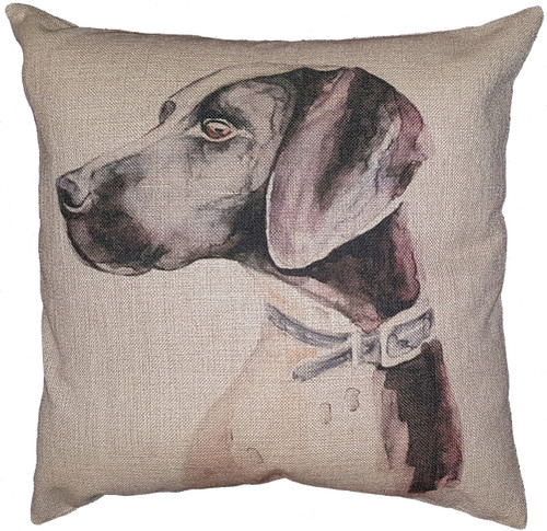 Cotton & Linen Dog Pillow - Great Dane (10369)