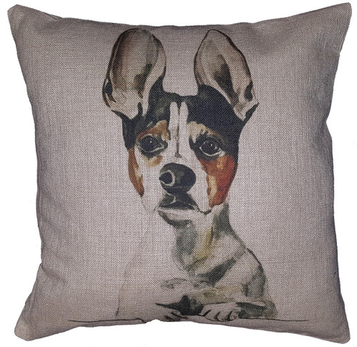 Cotton & Linen Dog Pillow - Jack Russell Terrier (10370)