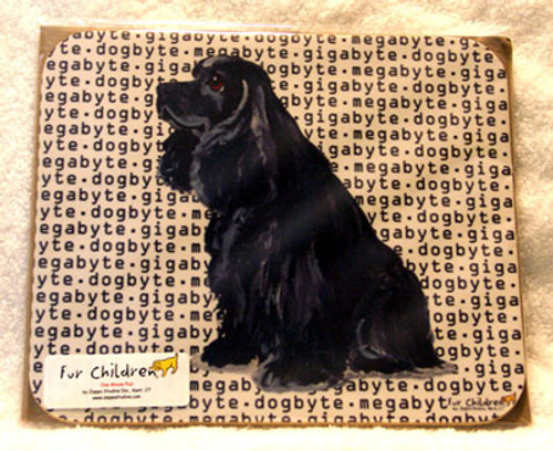 Fur Children Megabyte, Gigabyte, Dog Byte Mouse Pad - American Black Cocker Spaniel (MPMGDB05)