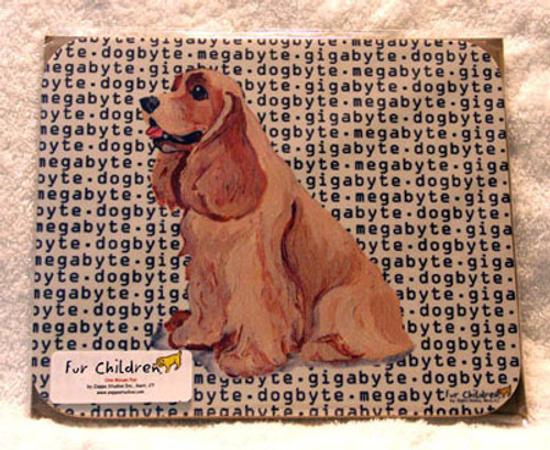 Fur Children Megabyte, Gigabyte, Dog Byte Mouse Pad - American Cocker Spaniel (Buff) (MPMGDB06)