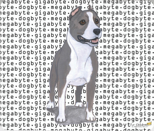 Fur Children Megabyte, Gigabyte, Dog Byte Mouse Pad - American Staffordshire Terrier (MPMGDB08)