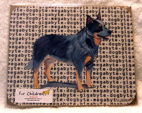 Fur Children Megabyte, Gigabyte, Dog Byte Mouse Pad - Australia Cattledog (MPMGDB09)