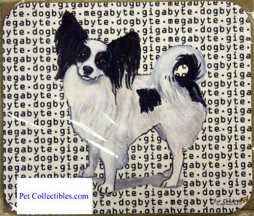 Fur Children Megabyte, Gigabyte, Dog Byte Mouse Pad - Papillon (MPMGDB103)