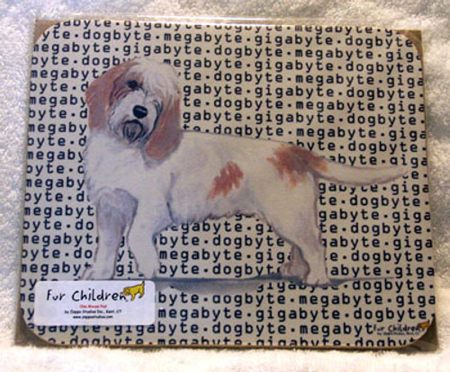 Fur Children Megabyte, Gigabyte, Dog Byte Mouse Pad - Petit Basset Grifon Vendeen (PBGV) (MPMGDB105)