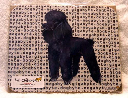 Fur Children Megabyte, Gigabyte, Dog Byte Mouse Pad - Poodle (Black) (MPMGDB108)