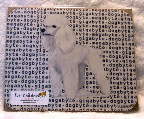 Fur Children Megabyte, Gigabyte, Dog Byte Mouse Pad - Poodle (White) (ZE-MPMGDB109)