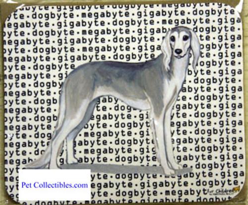 Fur Children Megabyte, Gigabyte, Dog Byte Mouse Pad - Saluki (MPMGDB118)