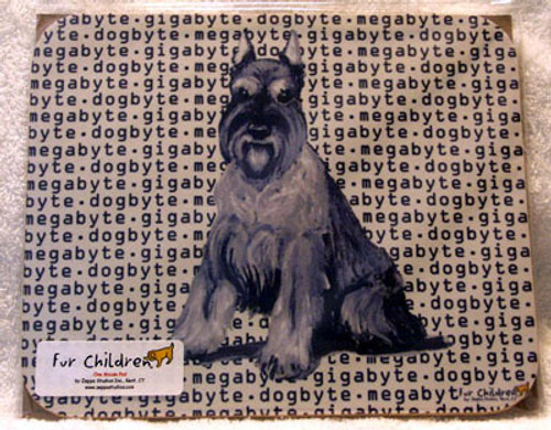 Fur Children Megabyte, Gigabyte, Dog Byte Mouse Pad - Schnauzer (MPMGDB121)